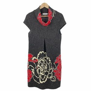 Funky People Cowl Neck Cap Sleeved Sweater Dress